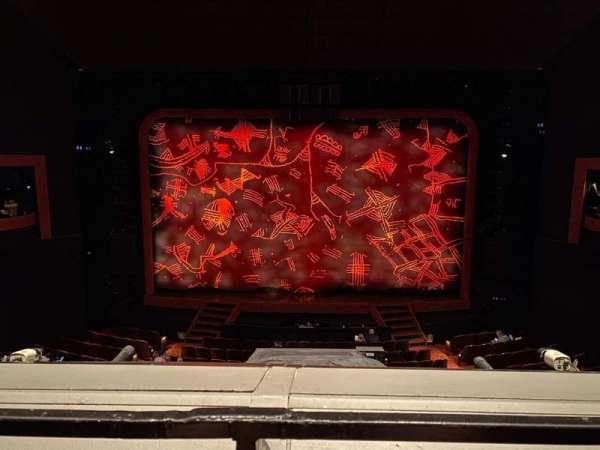 Minskoff Theatre, secção: Mezzanine, fila: A, lugar: 124