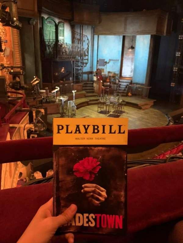 Walter Kerr Theatre, secção: Mezzanine L, fila: A, lugar: 19