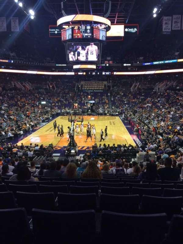 PHX Arena, secção: 108, fila: 20, lugar: 4
