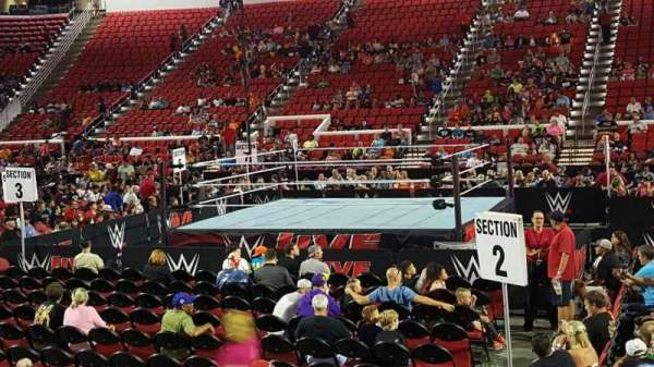 PNC Arena, secção: 118, fila: H, lugar: 8