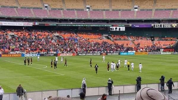 RFK Stadium, secção: 212, fila: 14, lugar: 7