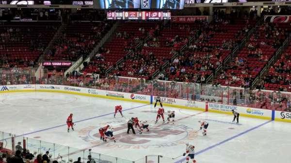 PNC Arena, secção: 101, fila: XX, lugar: 6