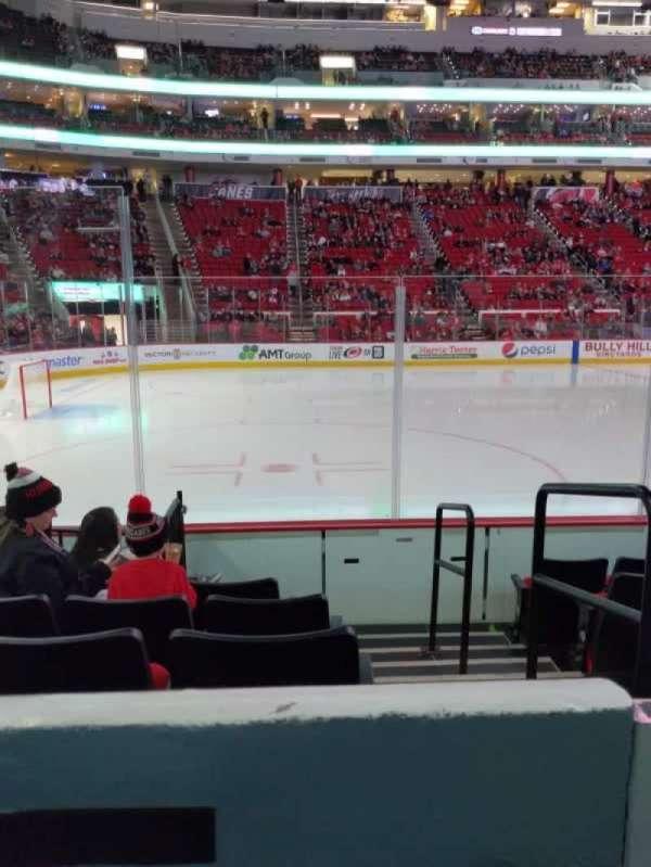 PNC Arena, secção: 107, fila: f, lugar: 1