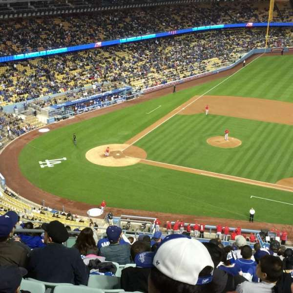 Dodger Stadium, secção: 20RS, fila: T, lugar: 4