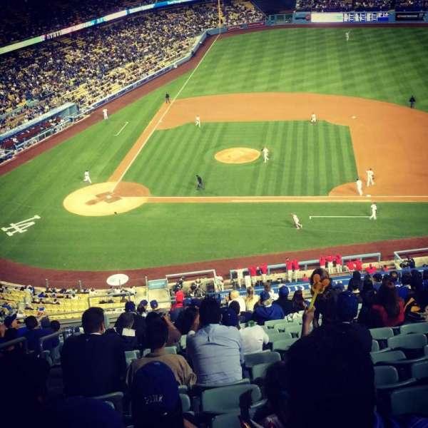 Dodger Stadium, secção: 10RS, fila: S, lugar: 19