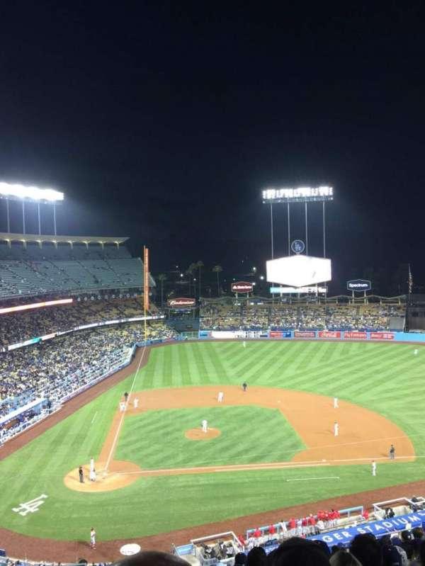 Dodger Stadium, secção: 10RS, fila: O, lugar: 3