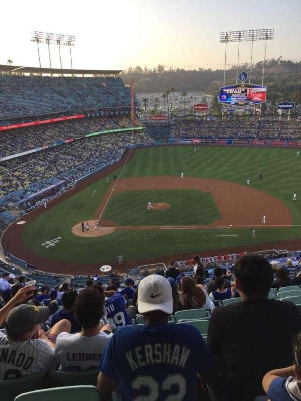 Dodger Stadium, secção: 10RS, fila: S, lugar: 13