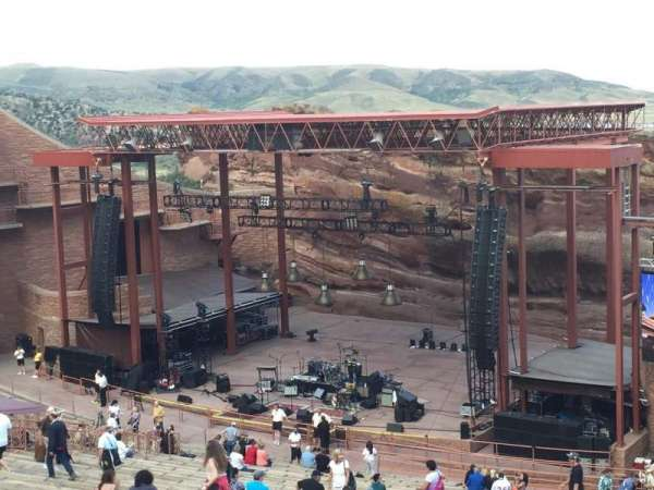 Red Rocks Amphitheatre, fila: 38, lugar: 12