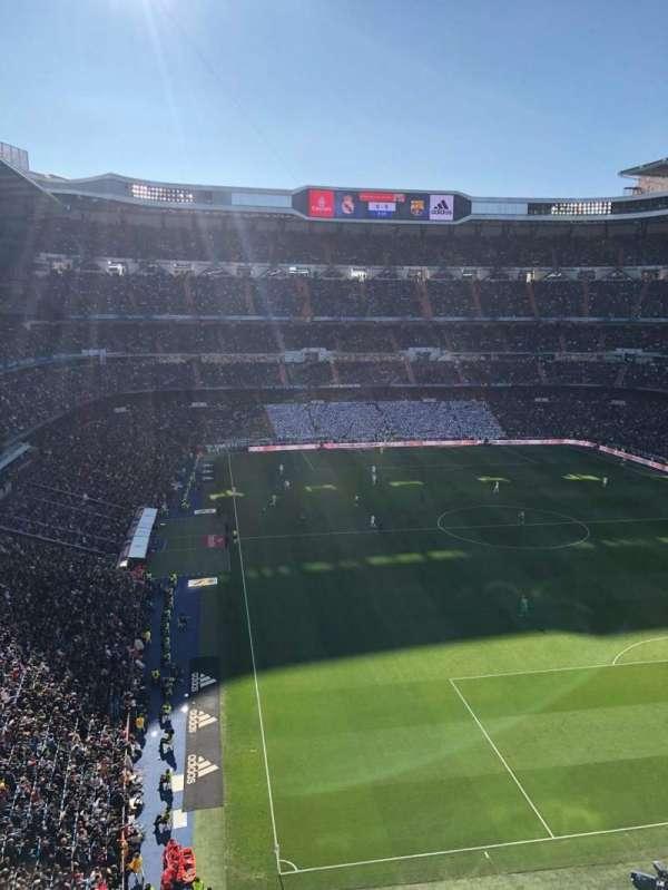 Santiago Bernabéu Stadium, secção: 529, fila: 1, lugar: 14