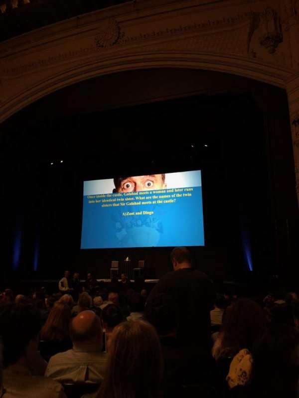 Orpheum Theatre (San Francisco), secção: Orchestra R, fila: R, lugar: 126