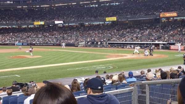 Yankee Stadium, secção: 125, fila: 15, lugar: 3