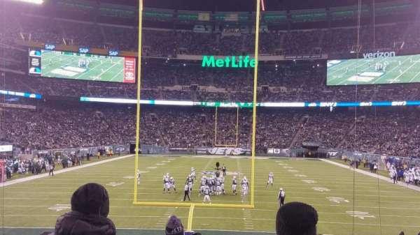 MetLife Stadium, secção: 101, fila: 18, lugar: 10