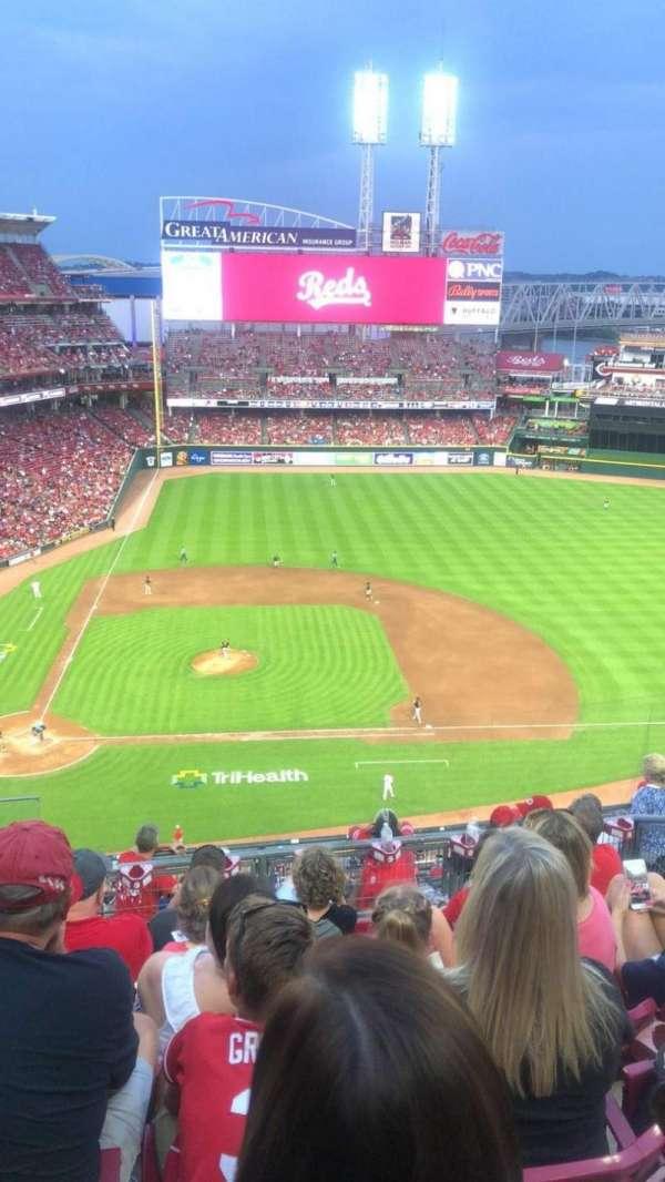 Great American Ball Park, secção: 529, fila: F, lugar: 16