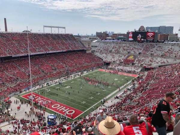 Ohio Stadium, secção: 9C, fila: 37, lugar: 18