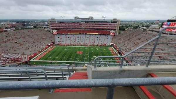 Memorial Stadium (Lincoln), secção: 606, fila: 9, lugar: 3