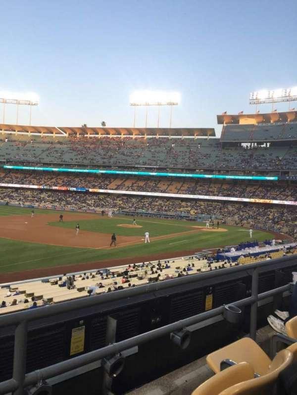 Dodger Stadium, secção: 151LG, fila: B, lugar: 6
