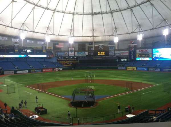 Tropicana Field, secção: Press Box