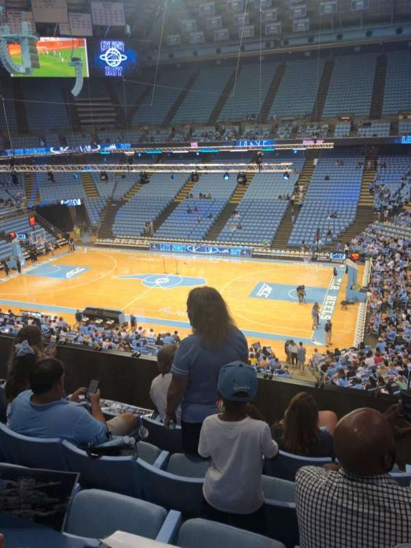 Dean E. Smith Center, secção: 227, fila: D, lugar: 5