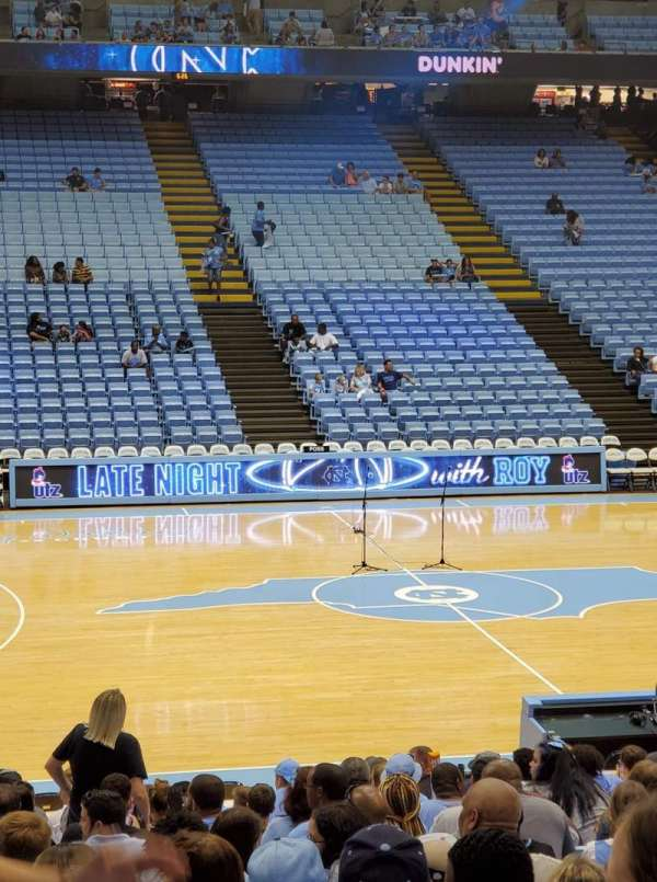 Dean E. Smith Center, secção: 125, fila: N, lugar: 5
