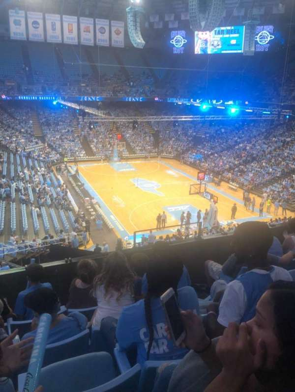 Dean E. Smith Center, secção: 214, fila: D, lugar: 6