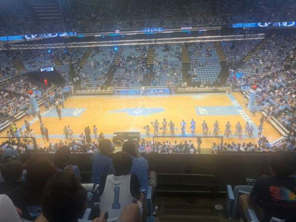 Dean E. Smith Center, secção: 226, fila: D, lugar: 12