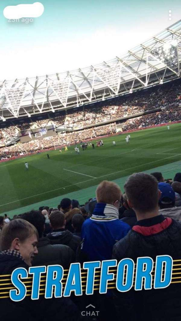 London Stadium, secção: 118, fila: 17, lugar: 101