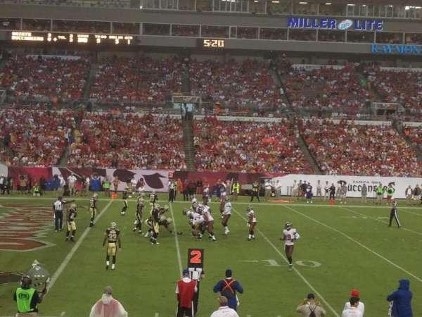 Raymond James Stadium, secção: 132, fila: n, lugar: 19