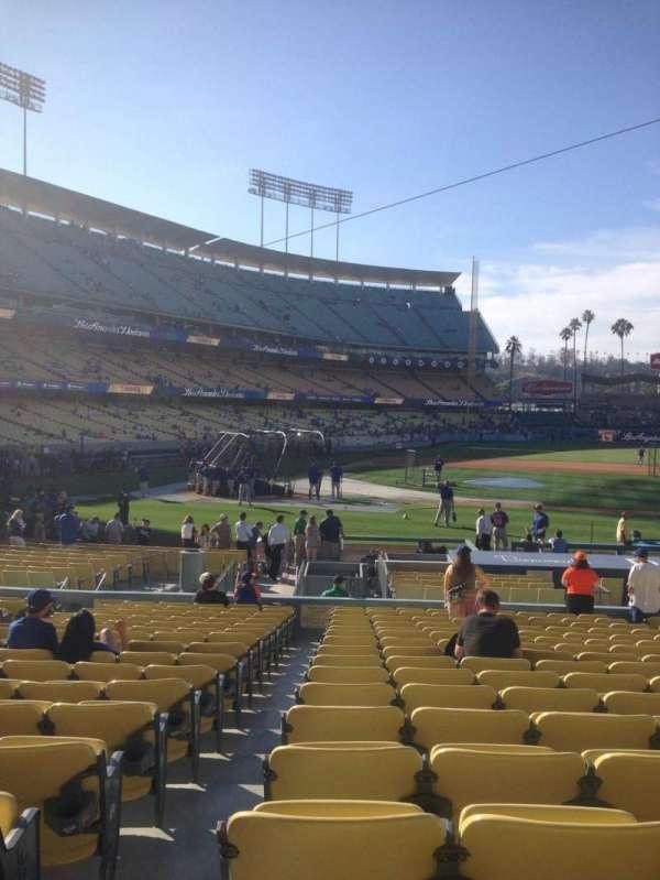 Dodger Stadium, secção: 16fd, fila: S, lugar: 1