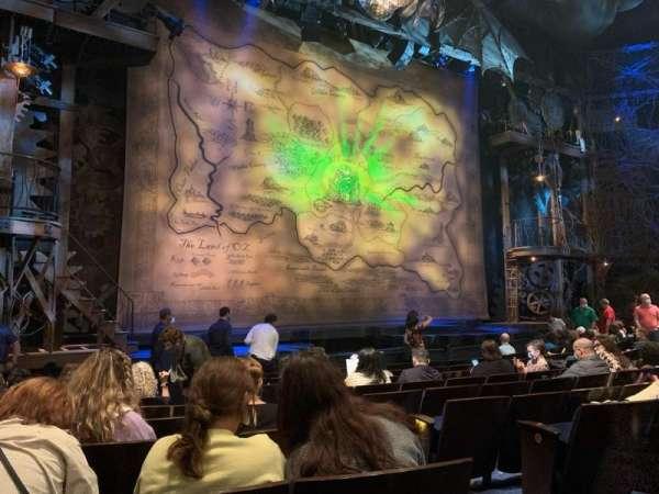 Gershwin Theatre, secção: ORCH, fila: F, lugar: 7