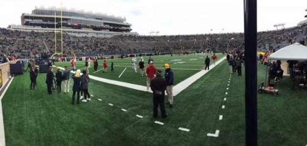 Notre Dame Stadium, secção: 16, fila: 3