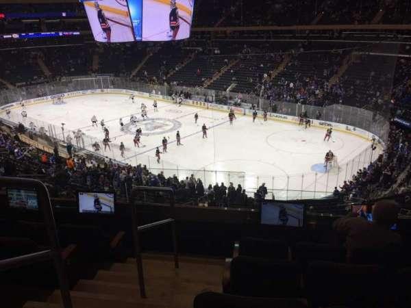 Madison Square Garden, secção: 201, fila: 5, lugar: 2