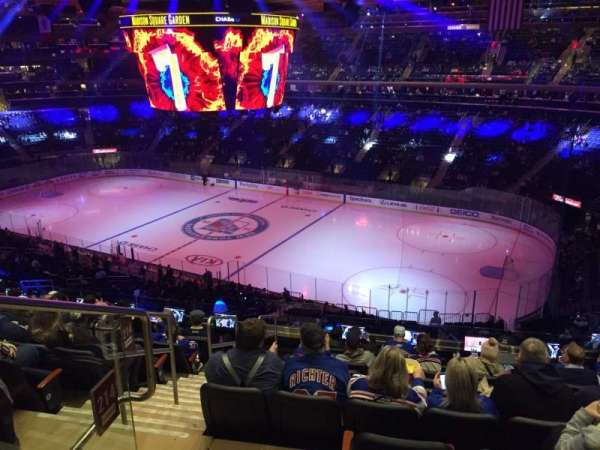 Madison Square Garden, secção: 214, fila: 10, lugar: 1