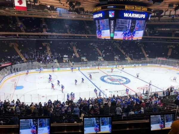 Madison Square Garden, secção: 209, fila: E, lugar: 8