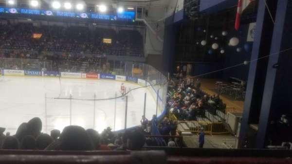 Upstate Medical University Arena, secção: 2, fila: E, lugar: 1