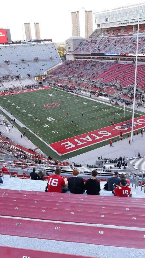Ohio Stadium, secção: 8C, fila: 20, lugar: 17