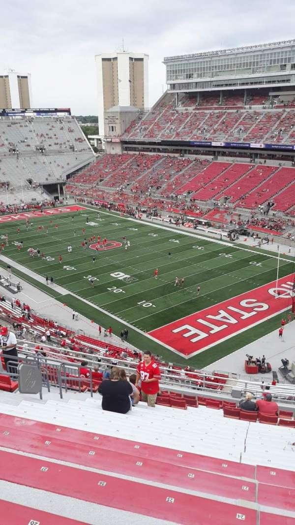 Ohio Stadium, secção: 10C, fila: 18, lugar: 21