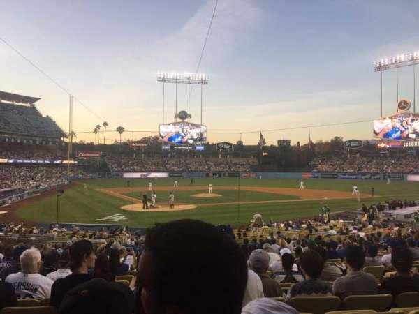 Dodger Stadium, secção: 6FD, fila: U, lugar: 8