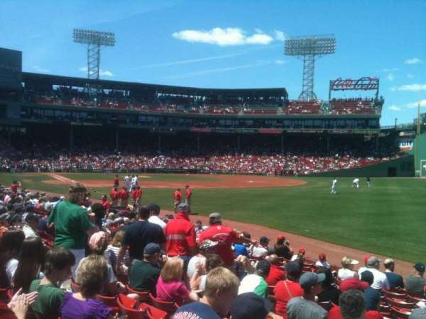 Fenway Park, secção: Right Field Box 94, fila: WW, lugar: 10