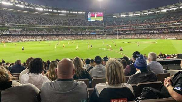 Melbourne Cricket Ground, secção: M28, fila: X, lugar: 17