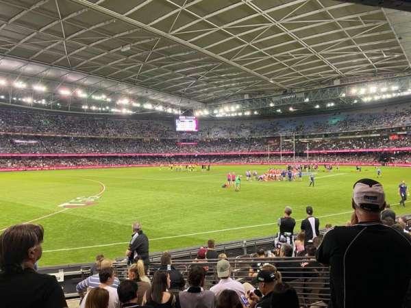 Marvel Stadium, secção: Aisle 18, fila: L, lugar: 45