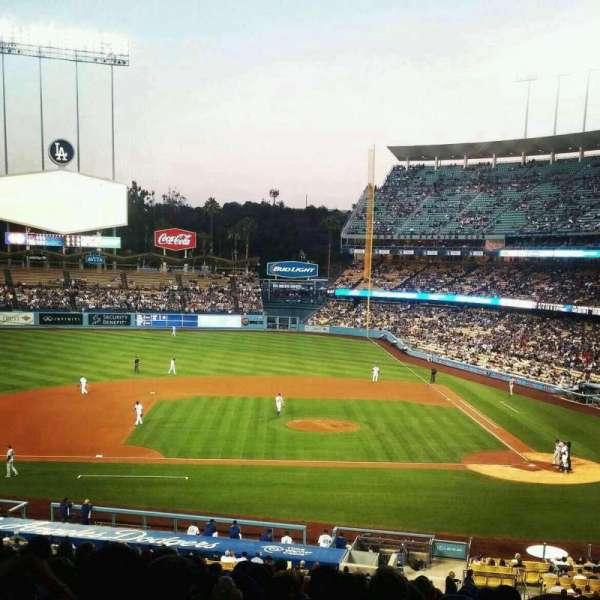 Dodger Stadium, secção: 127LG, fila: S, lugar: 1