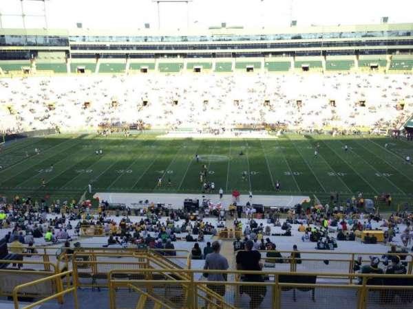 Lambeau Field, secção: 328, fila: 8, lugar: 4