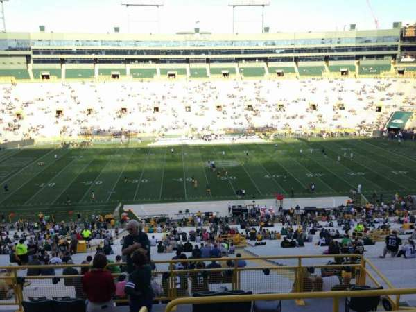 Lambeau Field, secção: 326, fila: 5, lugar: 12