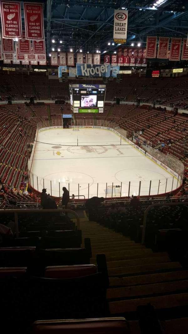 Joe Louis Arena, secção: 202A, fila: 17, lugar: 1