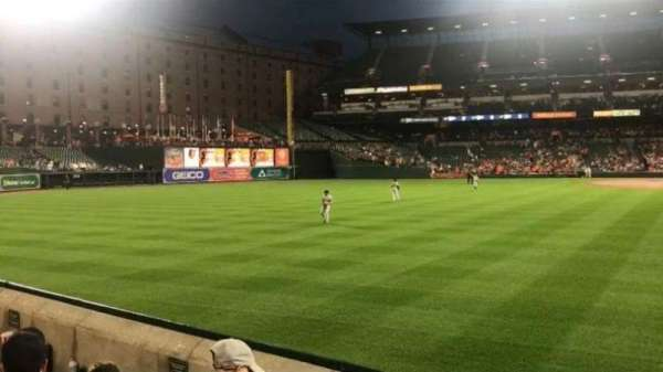 Oriole Park at Camden Yards, secção: 82, fila: 3