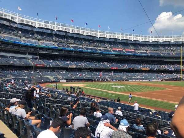Yankee Stadium, secção: 114, fila: 12