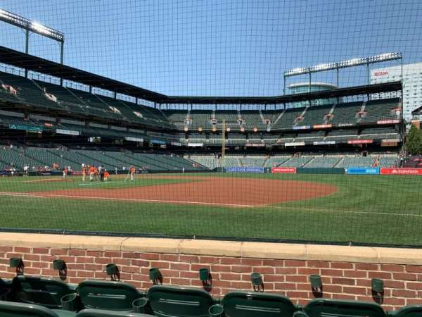 Oriole Park at Camden Yards, secção: 16, fila: 4, lugar: 5