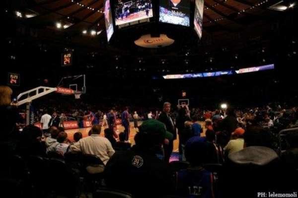 Madison Square Garden, secção: 10, fila: F, lugar: 3