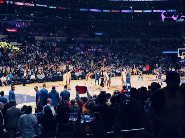 Staples Center, secção: 103, fila: 11, lugar: 7