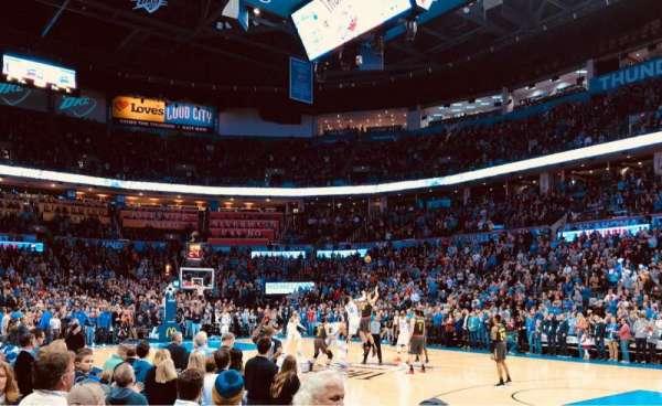 Chesapeake Energy Arena, secção: 114, fila: A, lugar: 10